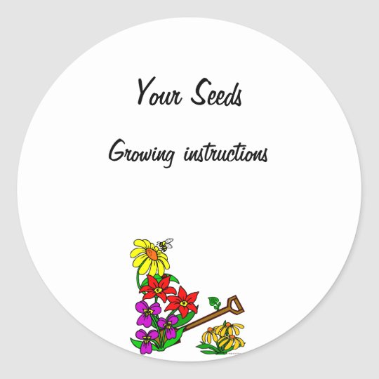 Custom Seed Packet Stickers