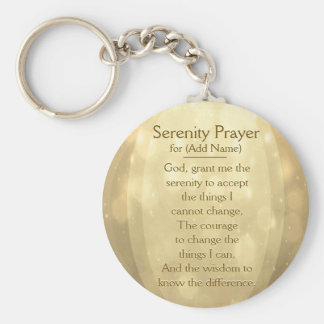Custom Serenity Prayer Key Ring