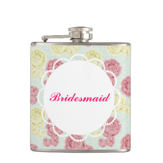 Custom Shabby Chic Vintage Floral Flask