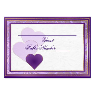 Custom Shades of Lavender and Purple Table Seating Business Card Templates