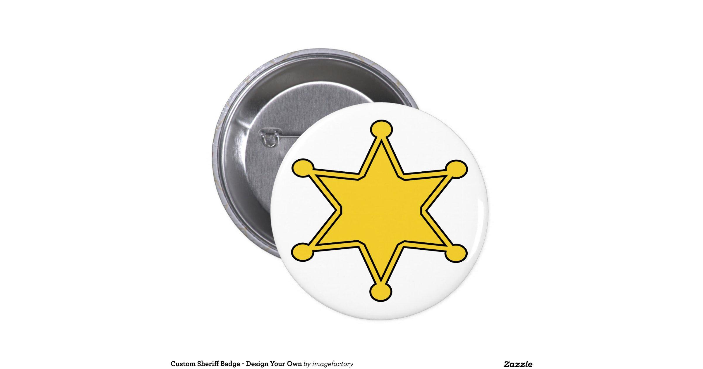 Custom sheriff badge design your own zazzle for Zazzle custom t shirts