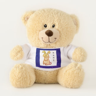 CUSTOM SHERMAN TEDDY BEAR W/ BUNNY