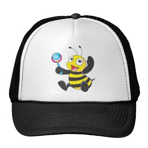 Custom Shirts : Baby with Rattle Bee Shirts Trucker Hat