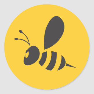Custom Shirts :  Elegant Bee Icon Shirts Classic Round Sticker