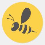 Custom Shirts :  Elegant Bee Icon Shirts Round Stickers