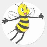 Custom Shirts : Flying Bee Shirts Round Stickers
