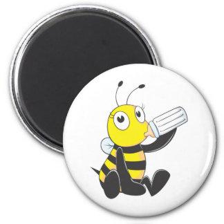 Custom Shirts : Happy Baby Bee Shirts 6 Cm Round Magnet