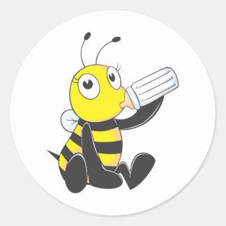Custom Shirts Happy Baby Bee Shirts Round Sticker