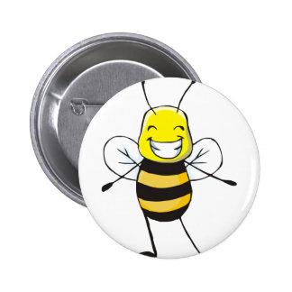 Custom Shirts : Happy Bee Shirts 6 Cm Round Badge