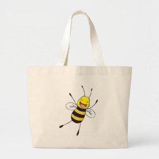 Custom Shirts : Happy Bee Shirts Large Tote Bag