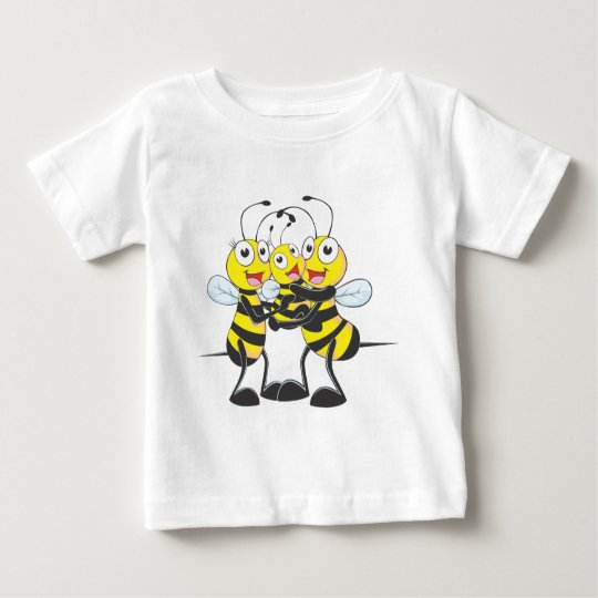 Custom Shirts : Happy Dad Mum Baby Bee