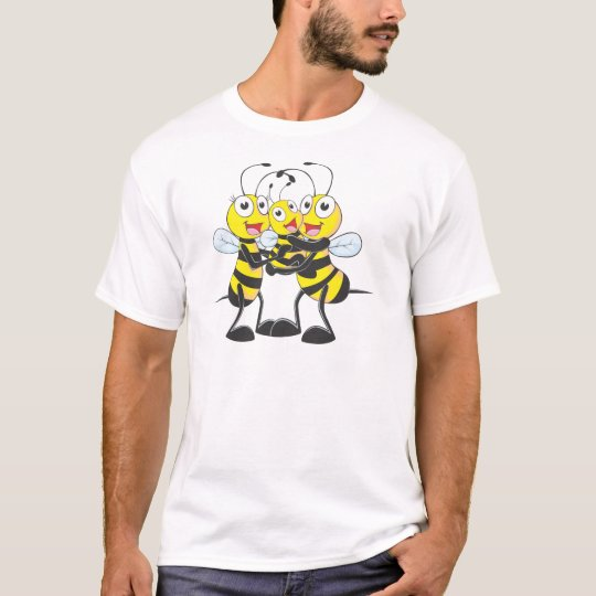 Custom Shirts : Happy Dad Mum Baby Bee Shirts