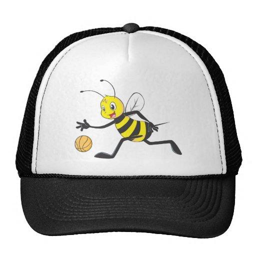 Custom Shirts : Playing Basketball Bee Shirts Mesh Hat