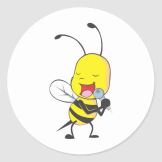 Custom Shirts : Singing Bee Shirts Classic Round Sticker