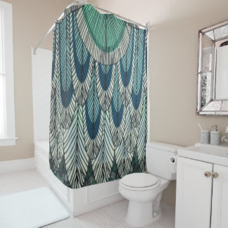 Custom Shower Curtain/ Blue-Green Shower Curtain