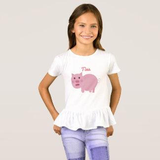 Custom Shy Pink Pig T-Shirt