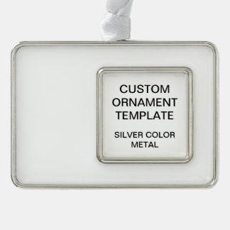 Custom Silver Color Christmas Ornament Template