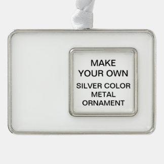 Custom Silver Color Metal Christmas Tree Ornament