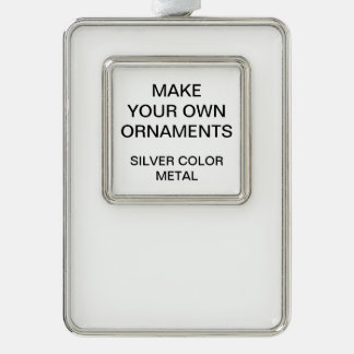 Custom Silver Colour Metal Christmas Tree Ornament
