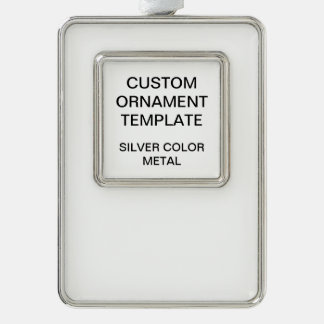 Custom Silver Metal Christmas Ornament Template