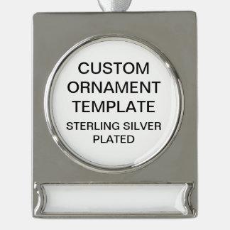 Custom Silver Plated Christmas Ornament Template