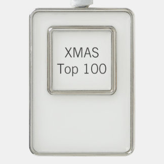 Custom Silver Plated Frame Christmas Tree Ornament