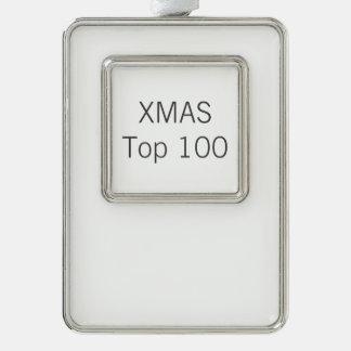 Custom Silver Plated Frame Christmas Tree Ornament Silver Plated Framed Ornament