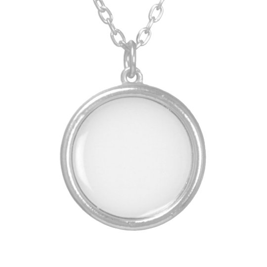 Small Silver Plated Round Necklace