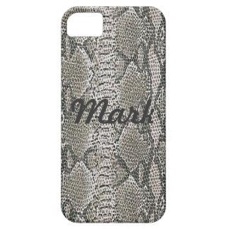 Custom Silver Snake Skin iPhone 5 Case