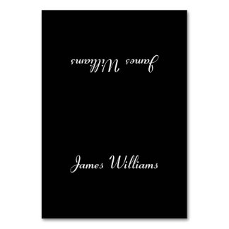 Custom Simple Black Place Setting Cards Table Cards