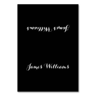 Custom Simple Black White Place Setting Cards Table Cards