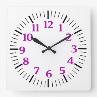Custom Simple Clock in Purple Numerals
