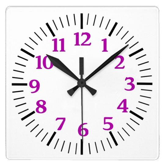 Custom Simple Clock in Purple Numerals
