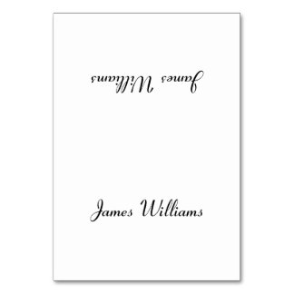 Custom Simple White Place Setting Cards Table Card