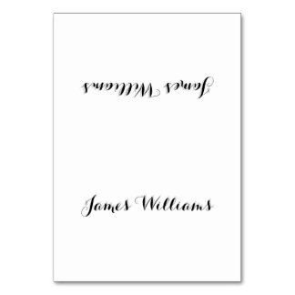 Custom Simple White Place Setting Cards Table Cards