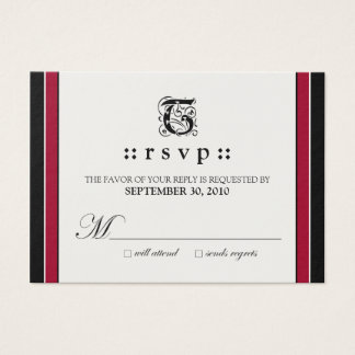 "::custom:: Simply Elegant 3.5x2.5"" RSVP Card"