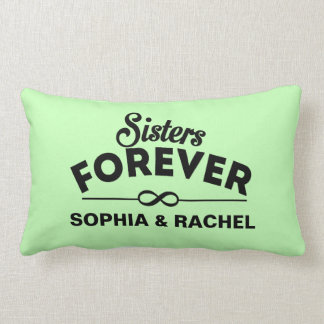 Custom Sisters Forever - Green Lumbar Pillow