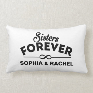 Custom Sisters Forever Throw Cushion
