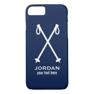 Custom Skiing Nordic Alpine Ski Pole Ski Team iPhone 7 Case