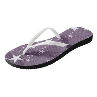 Custom slim straps, women, stars flip flops