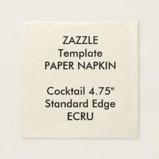 Custom Small ECRU Cocktail Paper Napkin Template