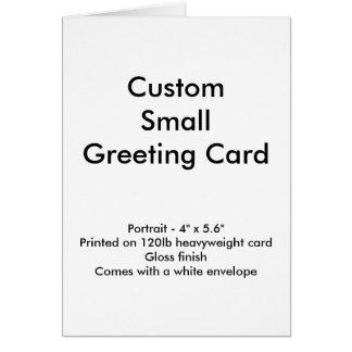 "Custom Small Greeting Card - Portrait 4"" x 5.6"""