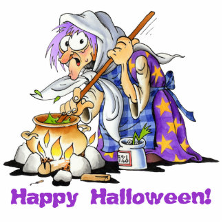Custom Small Purple Witch Halloween Cutouts Magnet Photo Sculpture Magnet