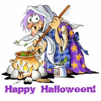 Custom Small Purple Witch Halloween Cutouts Standing Photo Sculpture