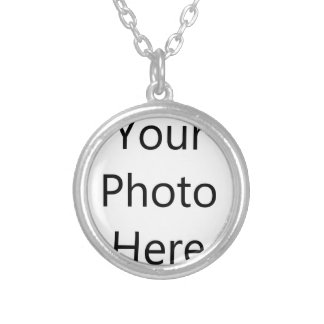 Custom Small Silver Plated Round Necklace