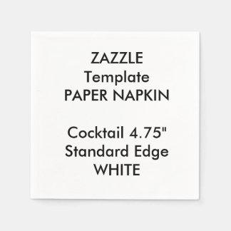 Custom Small WHITE Cocktail Paper Napkin Template