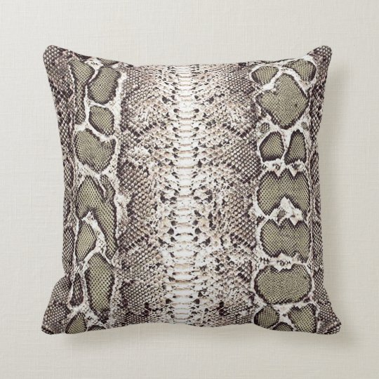 Custom Snake Skin Print #1 Cushion