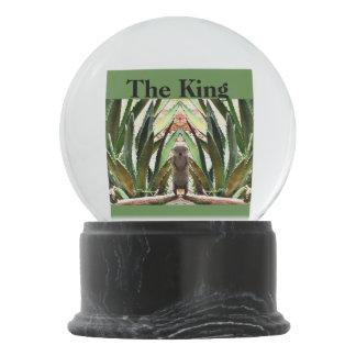 "Custom Snow Globe ""The King"""