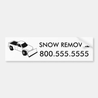 custom snow removal : snow plow truck bumper sticker