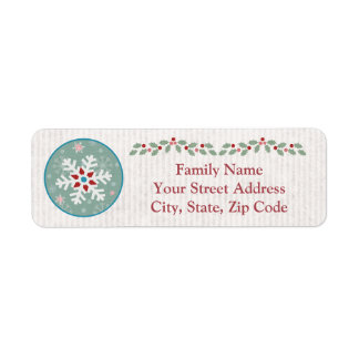 Custom Snowman 1st Christmas Return Address Labels